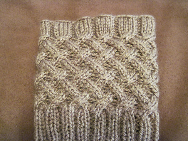 Knit Cabled Boot Topper Sowelu Studio