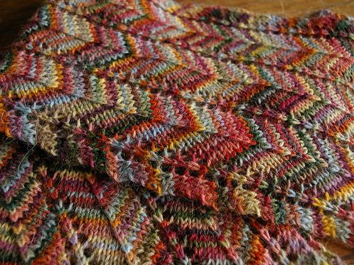 Sock Yarn Knit Scarf Sowelu Studio