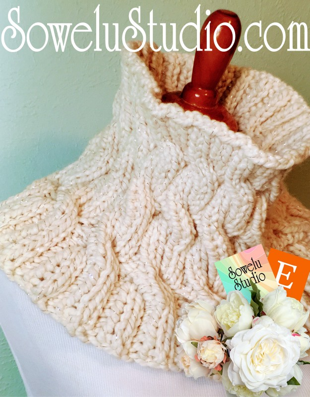Cozy Knitted Cable Cowla Fabulous Free Pattern Sowelu Studio