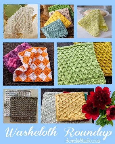 Knitted Washcloth Pattern Roundup Sowelu Studio