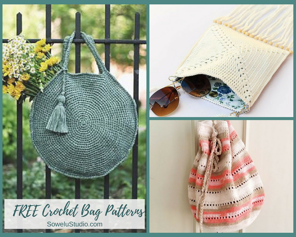 Wonderful Free And Easy Crochet Bag And Purse Patterns Sowelu Studio