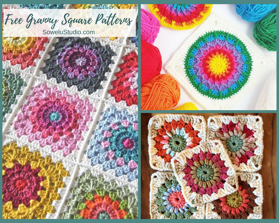 The Best Free Granny Square Crochet Patterns Sowelu Studio